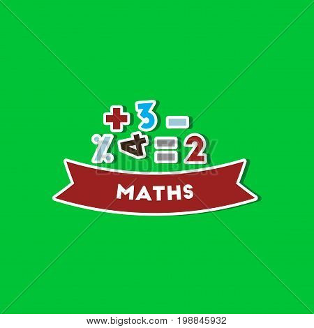 paper sticker on stylish background of math lesson