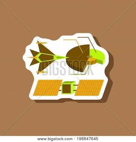 paper sticker on stylish background Military infographics