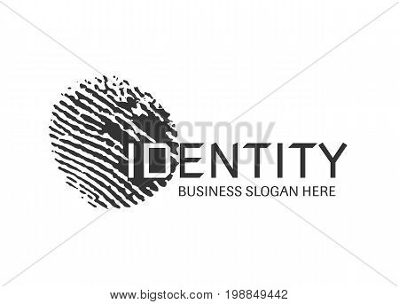 Vector - Fingerprint Logo, Isolated On White Background. Vector Illustration.