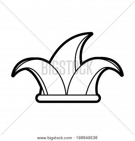 harlequin hat icon image vector illustration paint