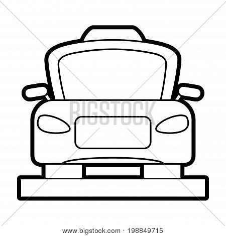 taxi frontview icon image vector illustration paint