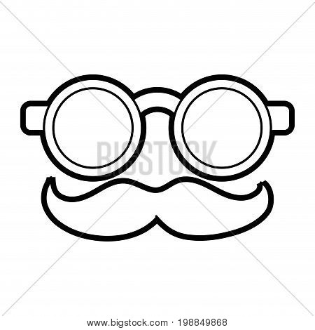 groucho marx glasses funny or joke item icon image vector illustration paint