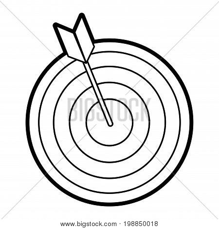 bullseye with dart icon image vector illustration paint