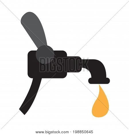Isolated beer faucet on a white background, Vector illustration