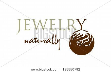 Vector - Natural Jewelry Modern Logo, Isolated On White Background. Vector Illustration.