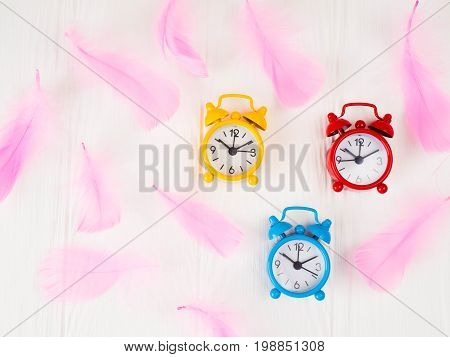 Alarm Clocks, Retro Style, Tinted Glass, Space For Text