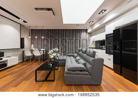 Interior With Sofa And Table