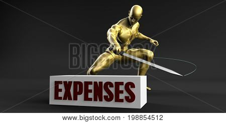 Reduce Expenses and Minimize Business Concept 3D Illustration Render