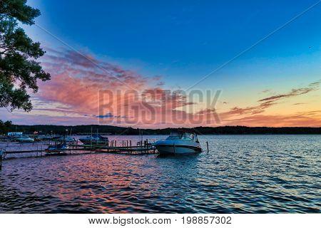 Sunsets on Lake Chautauqua are magnificent