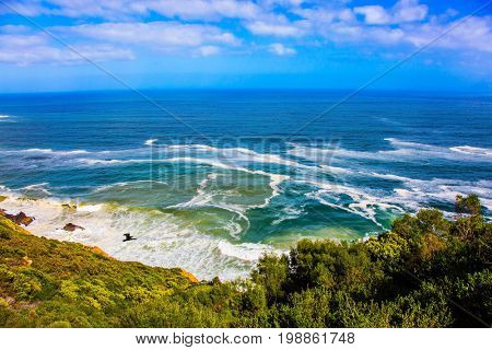 Journey to the southern edge of the world. The place where two oceans - Atlantic and Indian meet. Mysterious South Africa. The concept of extreme and exotic tourism