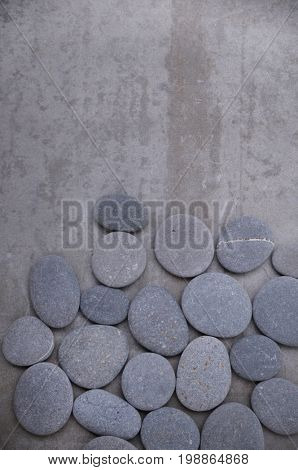 pile of gray stones-gray background