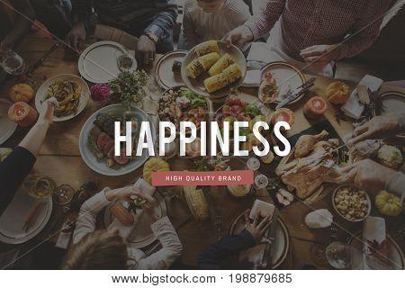 Bon Appetit Happiness Season Greeting