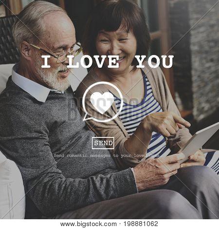 I Love You Affection Online Webpage Concept