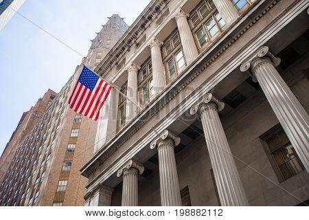 New York Stock Exchange in Manhattan Finance district