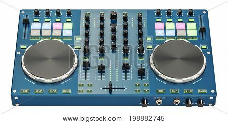 DJ Console 3D rendering isolated on white background
