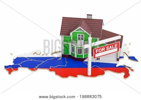 Property for sale and rent in Russia concept 3D rendering