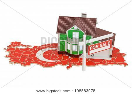 Property for sale and rent in Turkey concept 3D rendering
