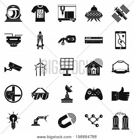 Near future icons set. Simple set of 25 near future vector icons for web isolated on white background