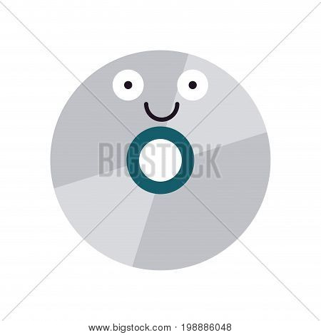 cd icon image cartoon character vector illustration design