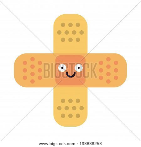 adhesive bandages healthcare related icon image cartoon character vector illustration design