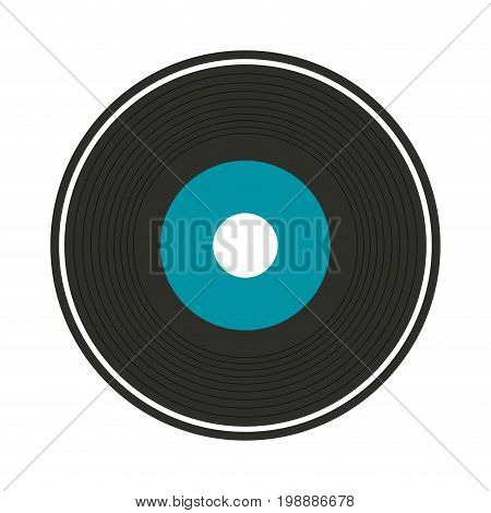 vinyl record icon image vector illustration design