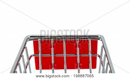 Market cart on white background clipping part