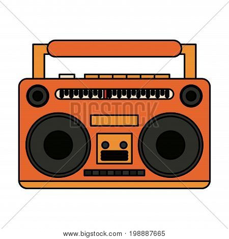 boom box icon image vector illustration design