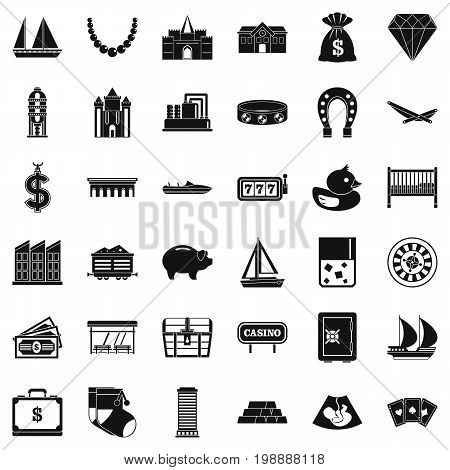 Investment icons set. Simple style of 36 investment vector icons for web isolated on white background