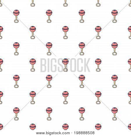 Baby rattle pattern in cartoon style. Seamless pattern vector illustration