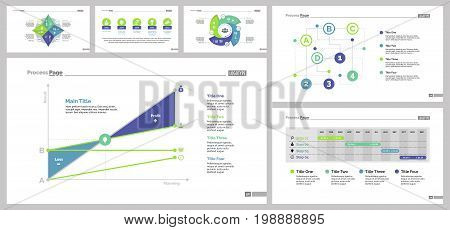 Infographic design set can be used for workflow layout, diagram, annual report, presentation, web design. Business and workflow concept with process, timing, line, area and percentage charts.