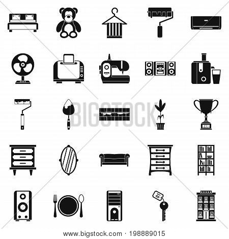Dwelling place icons set. Simple set of 25 dwelling place vector icons for web isolated on white background