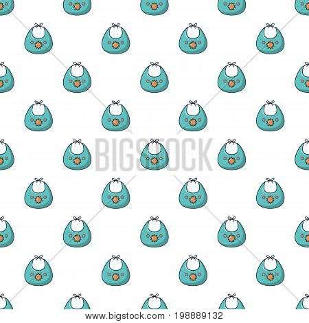 Kid bib pattern in cartoon style. Seamless pattern vector illustration