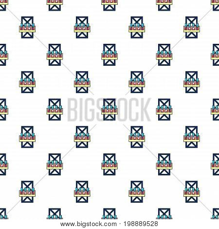 Freefall attraction pattern in cartoon style. Seamless pattern vector illustration