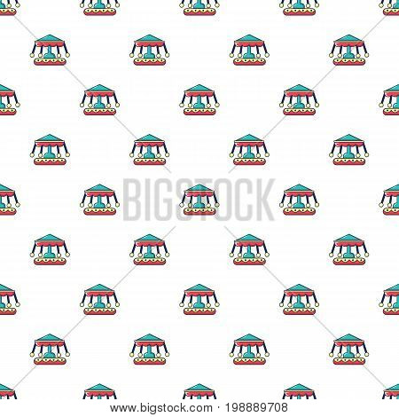 Carousel pattern in cartoon style. Seamless pattern vector illustration