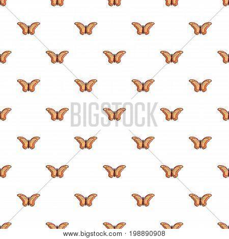 Monarch butterfly pattern in cartoon style. Seamless pattern vector illustration