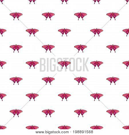 Butterfly papilio demoleus pattern in cartoon style. Seamless pattern vector illustration