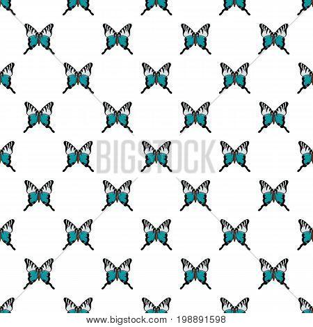 Papilio palinurus butterfly pattern in cartoon style. Seamless pattern vector illustration