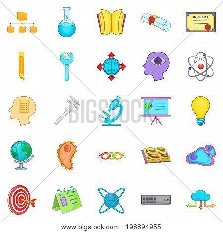 Human intelligence icons set. Cartoon set of 25 human intelligence vector icons for web isolated on white background