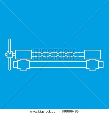 Blacksmiths clamp icon blue outline style isolated vector illustration. Thin line sign