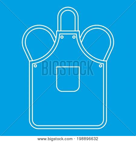 Blacksmiths apron icon blue outline style isolated vector illustration. Thin line sign