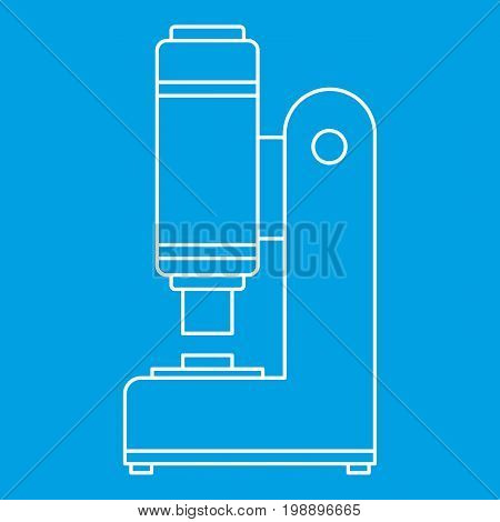 Blacksmith automatic hammer icon blue outline style isolated vector illustration. Thin line sign