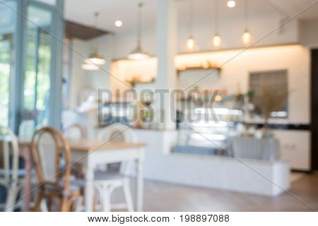 Vintage white bakery house interior stock photo