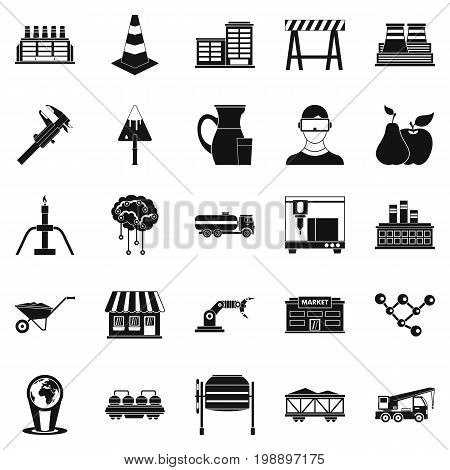 Extraction icons set. Simple set of 25 extraction vector icons for web isolated on white background