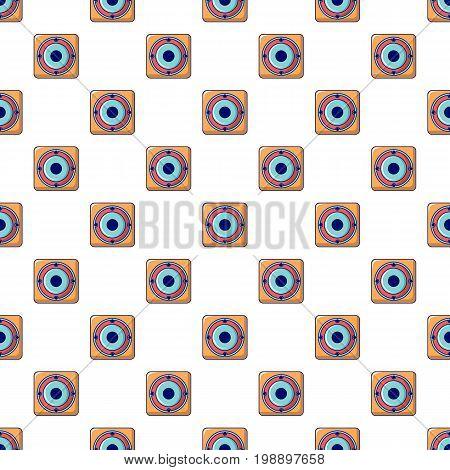 Speaker pattern in cartoon style. Seamless pattern vector illustration