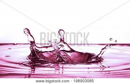 water. red splash. water splash. Splashed water. Drops and liquid water splash. splashing water