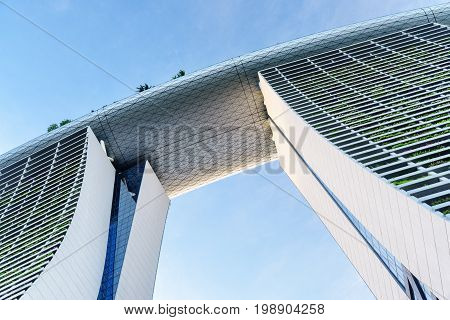 Bottom View Of The Marina Bay Sands Hotel, Singapore