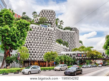 Facade Of Bugis+. Amazing View Of The Shopping Mall, Singapore