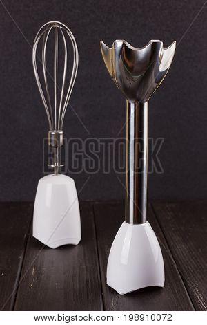 Nozzle of Hand Blender on black Background