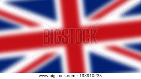 Blurred England flag. Blurred UK flag. England symbol. Blurred United Kingdom flag.