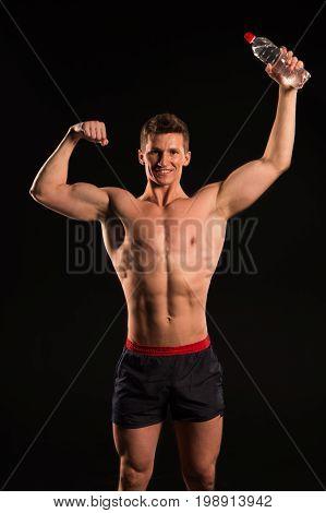 Gladiator Or Atlant In Boxing Gloves.